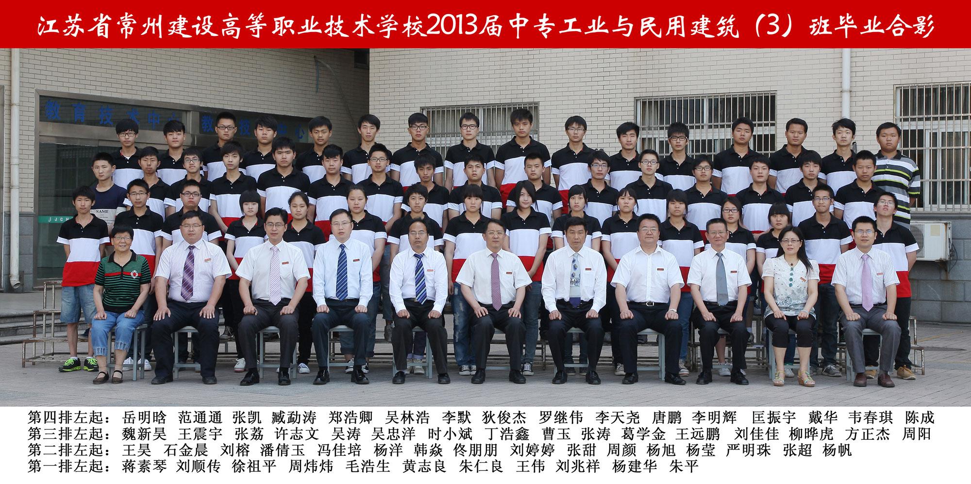 2013届中专工业与民用建筑(3)班...